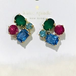 kate spade Cluster Multi Color Earrings